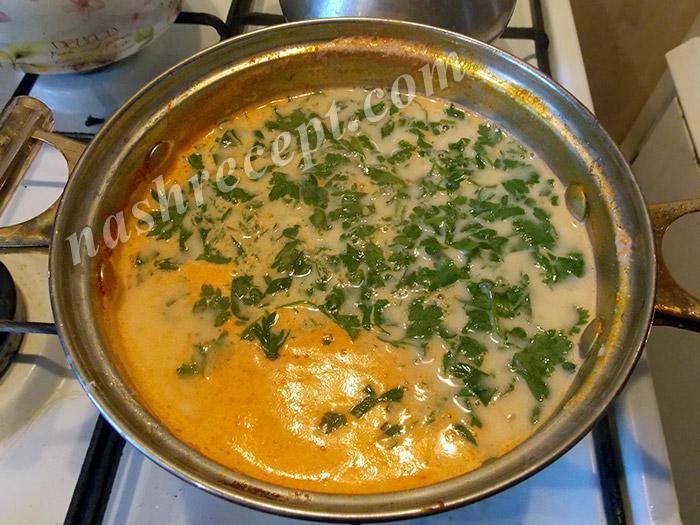 в суп с плавленным сыром добавьте зелень - v sup s plavlennym syrom dobavte zelen