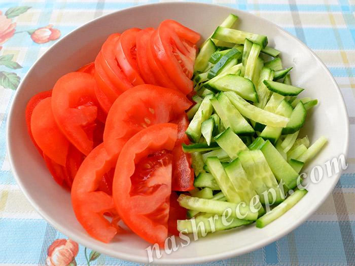 огурцы и помидоры для шаурмы