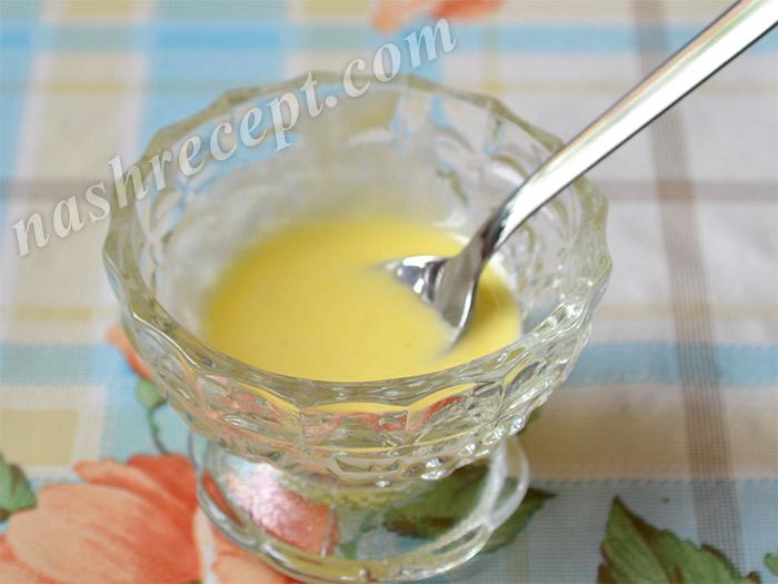 белковая глазурь, подкрашенная желтым красителем