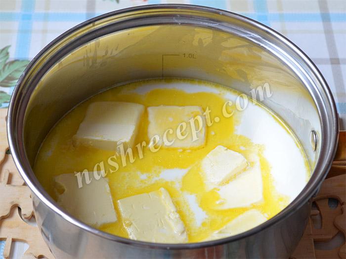 молоко с маслом для куличей без замеса