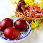 Пасхальные яйца в полосочку