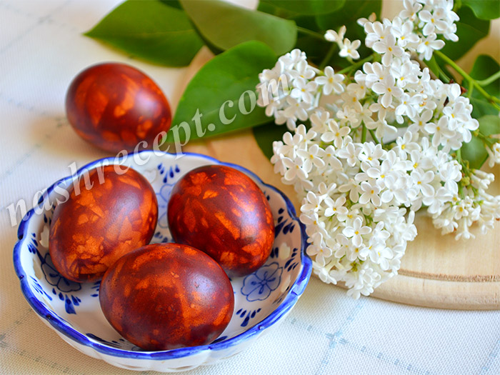 мраморные яйца (пасхальные яйца, крашенки)