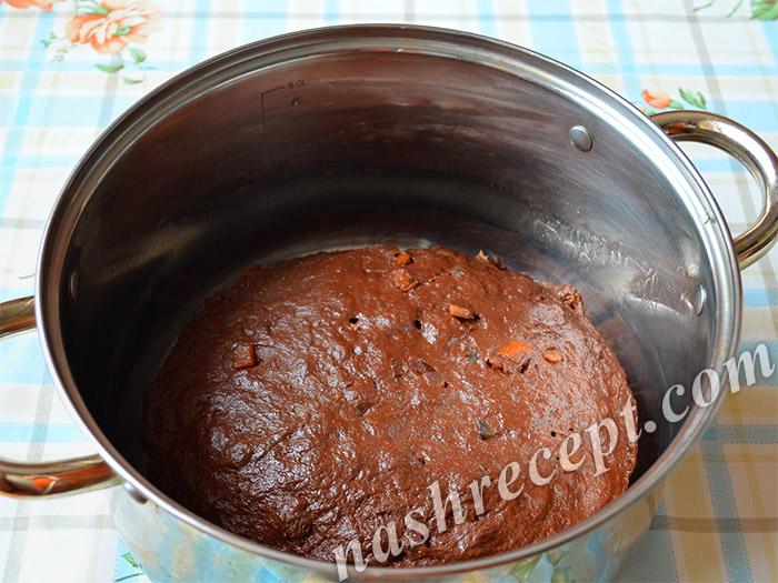 шоколадное тесто для пасхального кулича