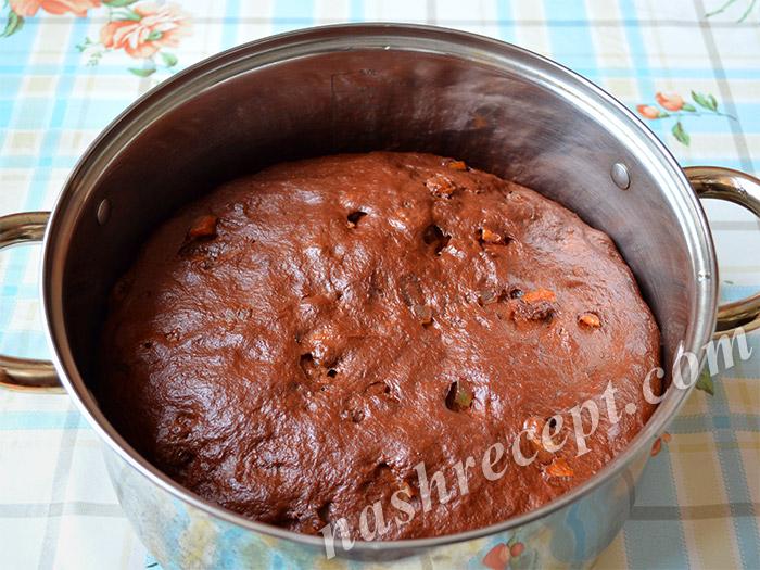 тесто для шоколадных куличей подошло