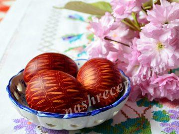 пасхальные яйца в сеточку