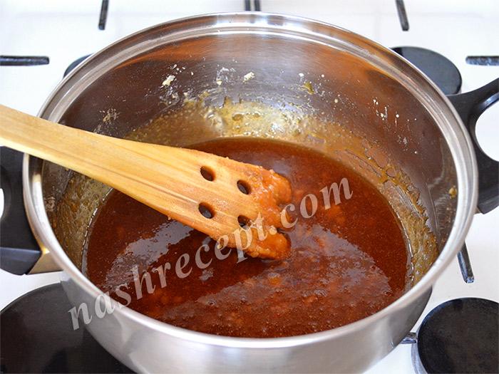 карамельный сироп для цукатов из апельсиновых корок
