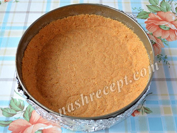 основа из печенья для чизкейка из рикотты