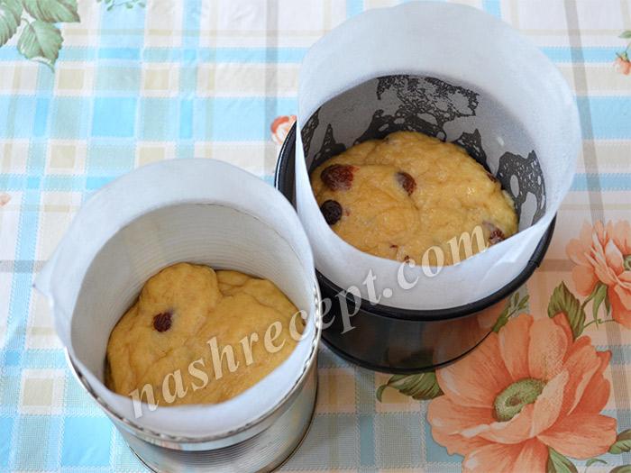 Тесто для кокосовых пасхальных куличей в формах